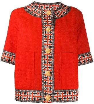 Gucci Square G trim tweed jacket