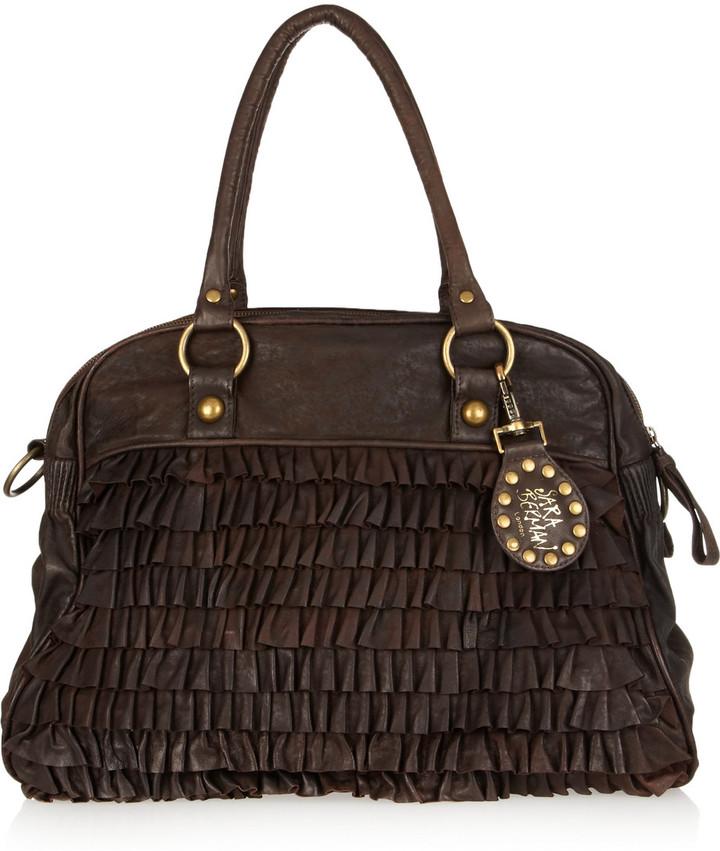 Sara Berman Bailee ruffled leather weekend bag