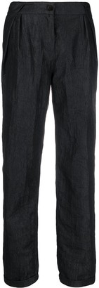 Emporio Armani High Waisted Crinkled Trousers