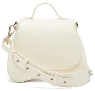Simone Rocha Flower Bean Mini Leather Clutch Bag - Womens - Cream