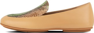 FitFlop Lena Snake-Print Leather Loafers