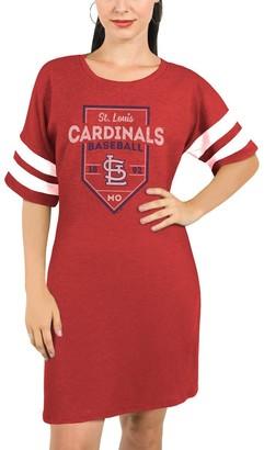 Majestic St. Louis Cardinals Threads Women's Tri-Blend Short Sleeve T-Shirt Dress - Red