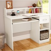 Axess Computer Desk with Hutch South Shore Color: Chocolate