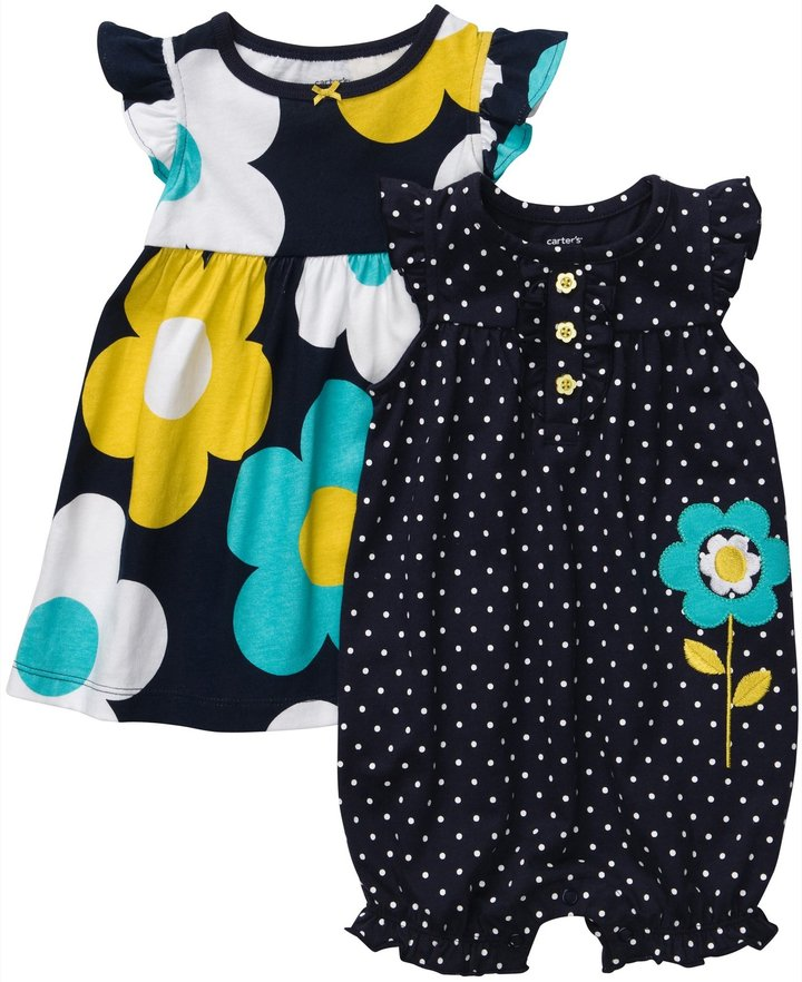 Carter's 2 Pack Sleeveless Dress & Romper Set