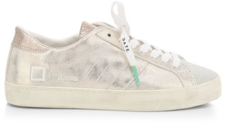 D.A.T.E Hill Low Stardust Leather Sneakers