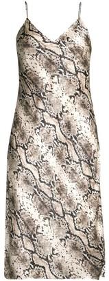 CAMI NYC The Raven Snake-Print Silk Slip Dress