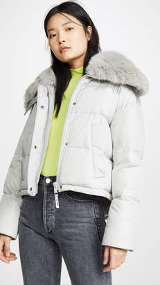 Yves Salomon Army By Doudoune Fox Lined Puffer Coat