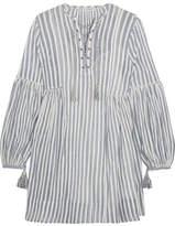 Ulla Johnson Helena Striped Cotton-gauze Mini Dress - Sky blue