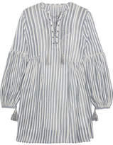 Ulla Johnson Helena Striped Cotton-gauze Mini Dress