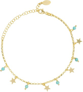 Latelita Turquoise Star Gemstone Bracelet Gold