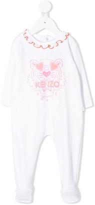 Kenzo Kids Logo-Print Ruffled-Neck Pyjama