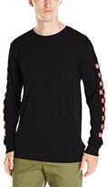 HUF Men's X Choc Checkered Long Sleeve Pocket T-Shirt