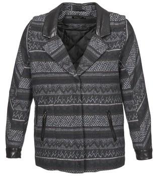 Color Block ALTONA women's Coat in Black