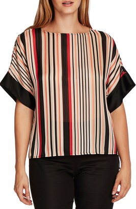 Vince Camuto Satin Stripe Top