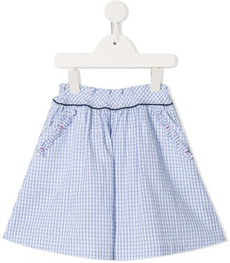 Familiar checked wide-leg shorts