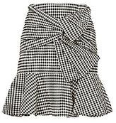 Veronica Beard Gingham Picnic Box Mini Skirt