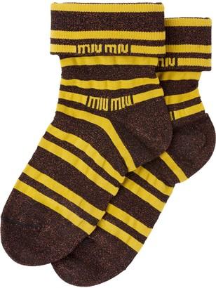 Miu Miu Logo Detail Socks