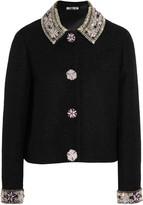Holly Fulton Embellished wool-blend bouclé jacket