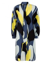 Jaeger Silk Graphic Floral Dress