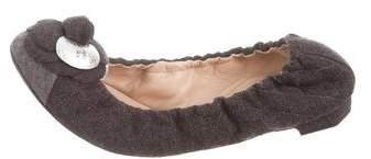 Chanel Camellia Cap-Toe Flats