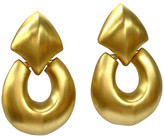 One Kings Lane Vintage Oversize Givenchy Knocker Earrings - Wisteria Antiques Etc - gold