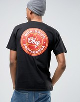 Obey T-shirt With Propaganda Back Print