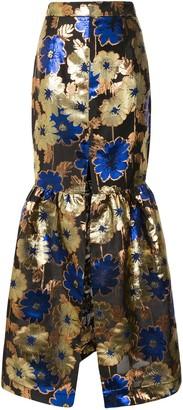 Alice McCall Night Light metallic floral-print skirt