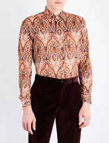 Etro Paisley-patterned slim-fit cotton shirt