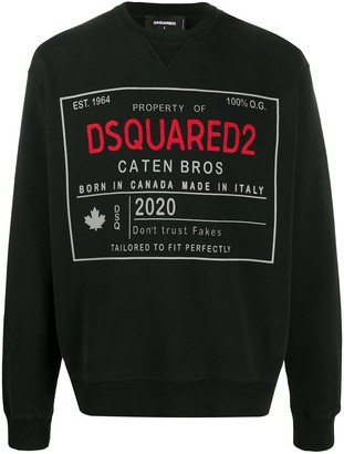 DSQUARED2 Logo-Print Crew-Neck Sweatshirt
