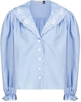 Thumbnail for your product : Rixo Darcy embroidered cotton blouse