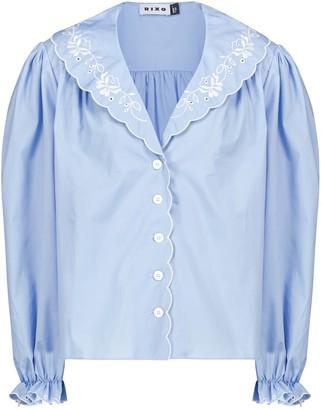 Rixo Darcy embroidered cotton blouse