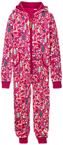 Fat Face Children's Festivewear Onesie, Raspberry