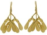 Annette Ferdinandsen Yellow Gold Maple Seed Drop Earrings