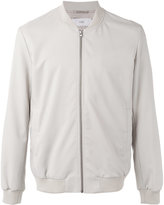 Closed zip up bomber jacket - men - Nylon/Viscose/Virgin Wool - S