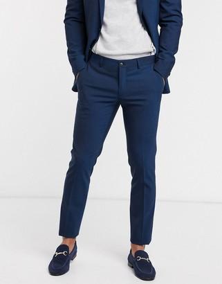 Esprit slim fit suit pant in navy
