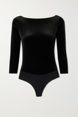 Commando Velvet Bodysuit - Black