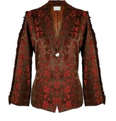 Olivia Annabelle Frilly Season Brocade Red Jacket Co-Ord