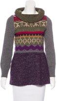 Philosophy di Alberta Ferretti Cowl Neck Abstract Patterned Sweater