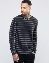 Diesel T-Zippy Slim Stripe Top Long Sleeve