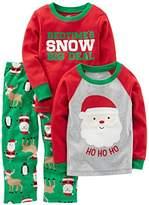Simple Joys by Carter's Boys' Toddler 3-Piece Santa Pajamas