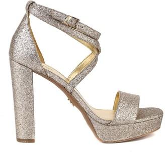 MICHAEL Michael Kors Charlize Gold Glitter Sandal