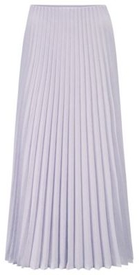 HUGO BOSS Plisse Maxi Skirt In Melange Fabric - Light Purple