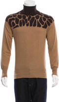 Michael Bastian Patterned Turtleneck Sweater