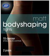 Boots Bodyshaping Matt Black Tights 2 Pair Pack