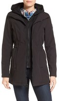 Vince Camuto Women's Hooded Bib Inset Soft Shell Jacket