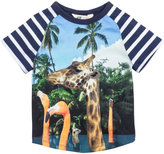 H&M T-shirt with Printed Motif - Dark blue/giraffe - Kids