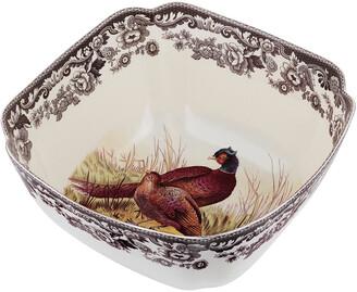 Spode Woodland Pheasant Deep Serving Bowl