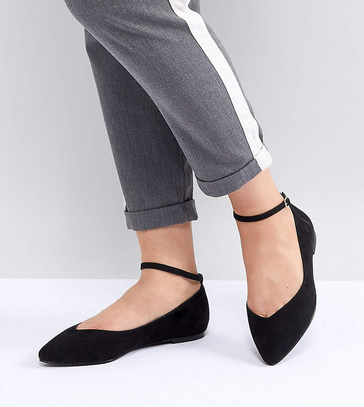 192fa0de704 Faith Wide Fit Ally Pointed Flat Shoes