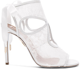 Aquazzura Lace Sexy Thing Bridal Heels in White.