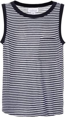 Velvet Lucia sleeveless cotton-blend top